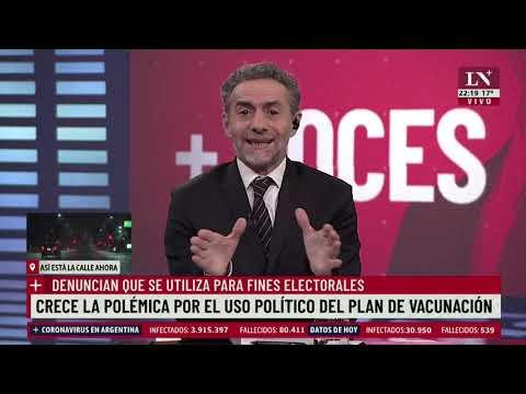 Polémica por el uso político de la vacuna a poco tiempo de la elección