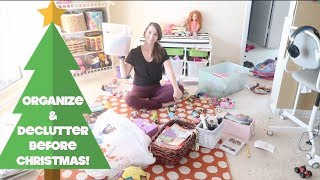 Huge Declutter and Organize With Me!  Making Room for Christmas Toys!