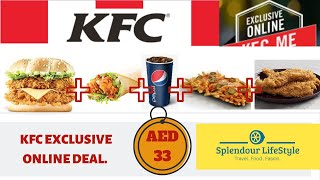 Amazing KFC Online Exclusive Deal in Budget Price | Splendour Lifestyle