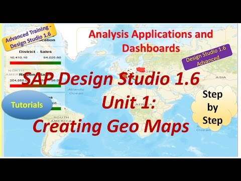 SAP Advanced Design Studio 1.6 : Unit1: Creating Geo maps :