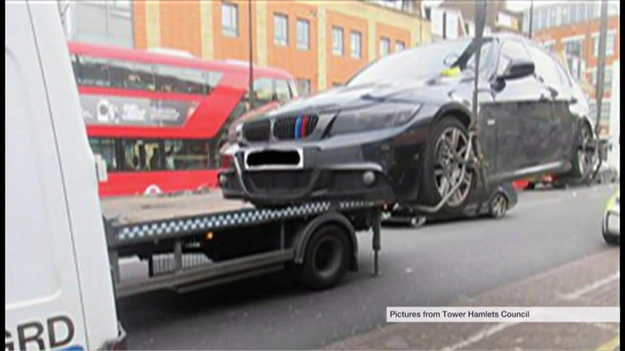 tower hamlets & police take drug dealers cars away (uk) - bbc london