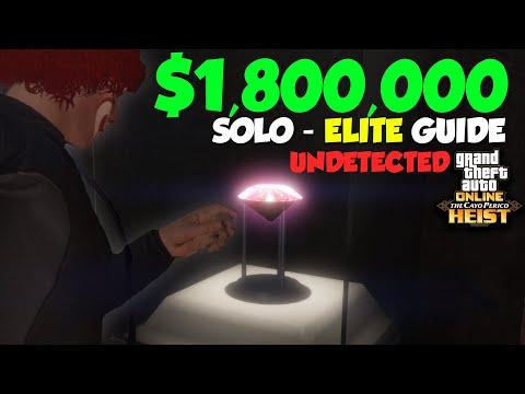 GTA Online Cayo Perico Heist SOLO Elite Challenge Stealth Guide - $1,787,213