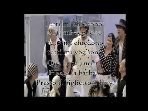 Largo al Factotum - Figaro's Aria - The Barber of Seville + Italian Lyrics
