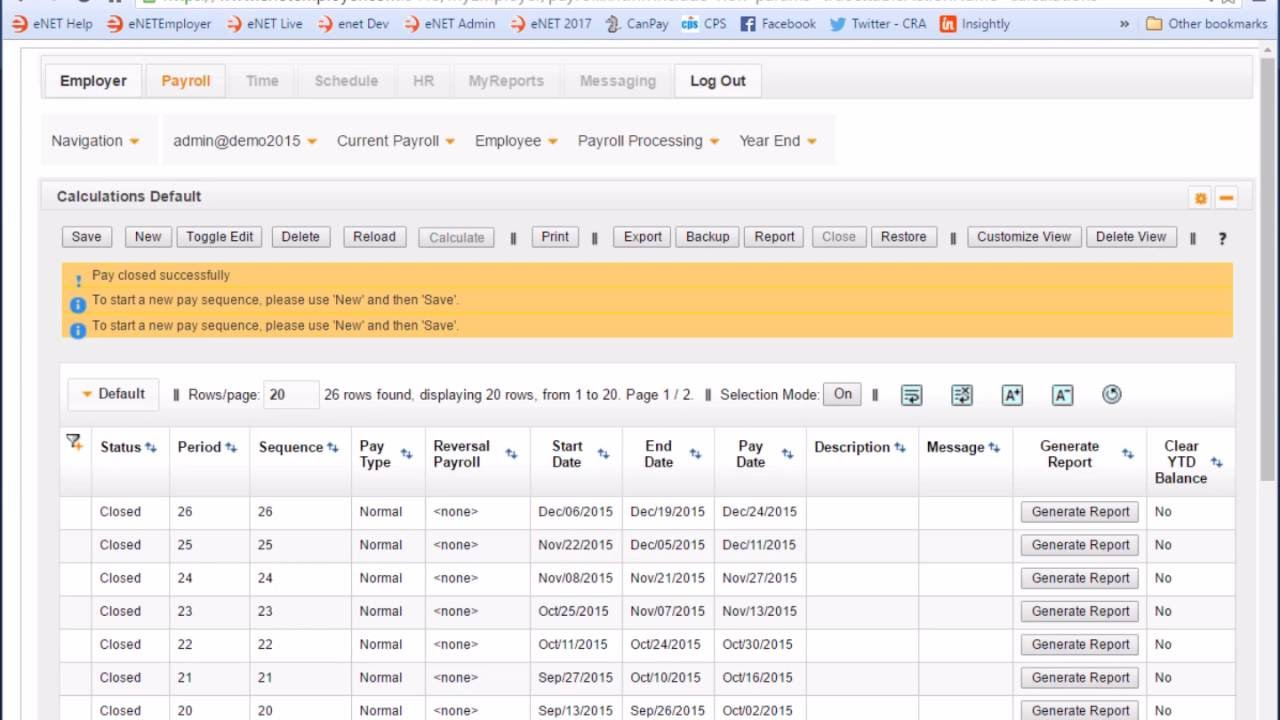 calculate a payroll performing payroll calculations in cloud