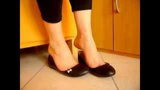 Dangling My New Flat Shoes