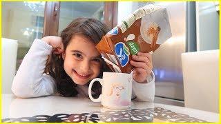 Rüya ile Market Alışverişine Çıktık, Salep Aldık, Yapıp İçtik l Çocuk Videosu l Rüya