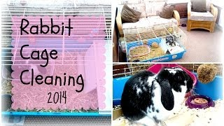 Rabbit Cage Cleaning 2014 | Rosiebunneh