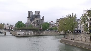 Live NBC feed outside Notre Dame in Paris