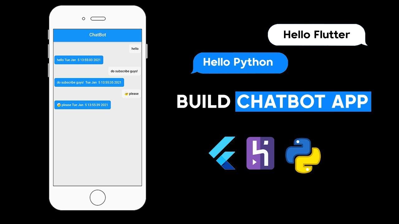 ChatBot App In Flutter | Python Backend With Flutter | Heroku Server (Full Explanation)