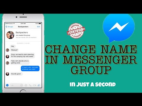 How To Change Name In Messenger Group Chat