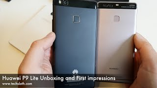 Huawei P9 Lite Unboxing and First impressions