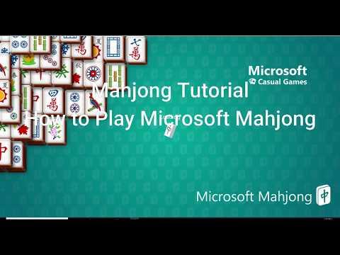 Microsoft Mahjong Game Play Tutorials Video