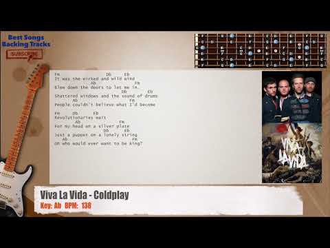 Viva La Vida - Coldplay Guitar Backing Track with chords and lyrics ...