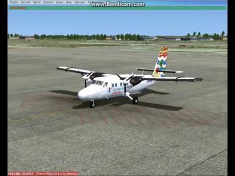 Fsx DHC-6-300 Cayman Airways Express fly Grand Cayman to Little Cayman