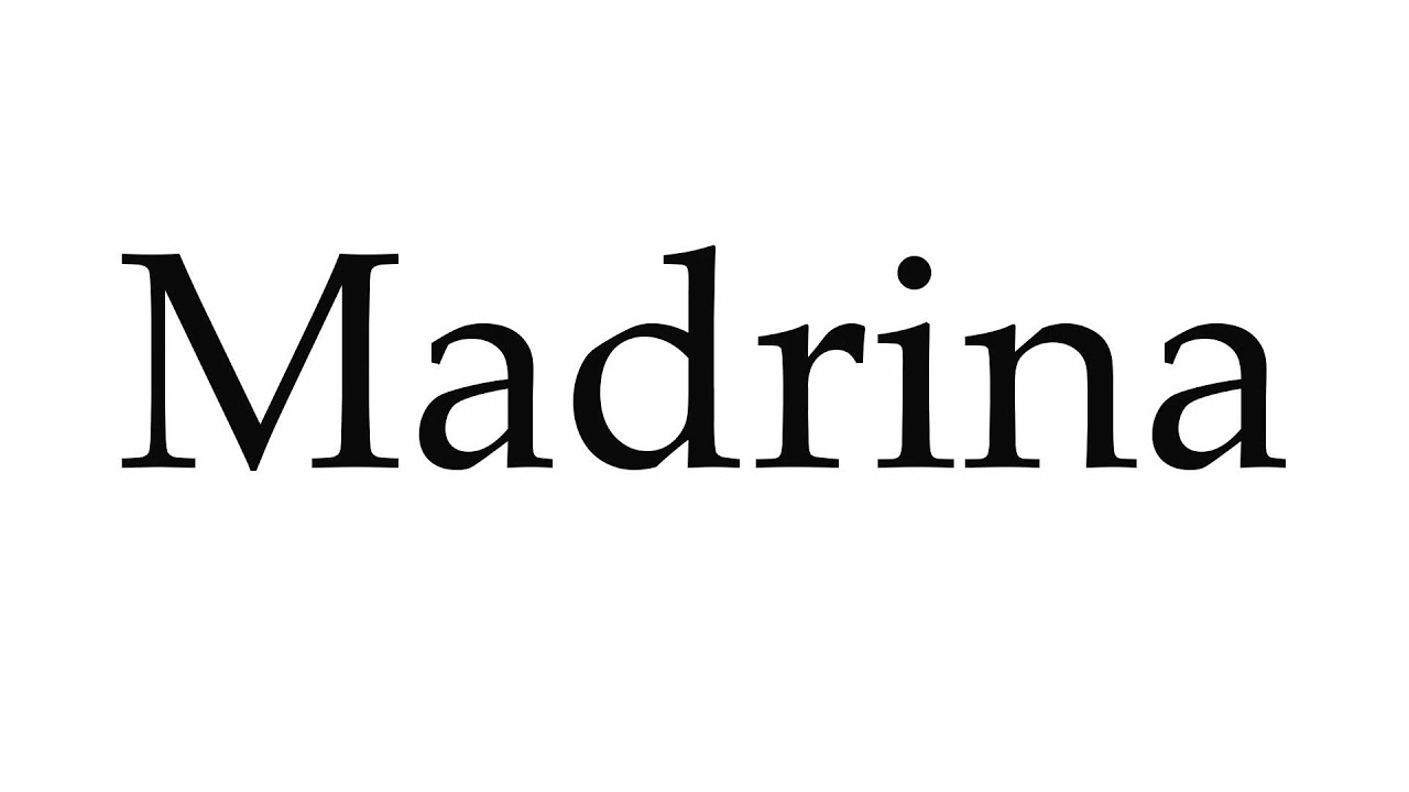 How to say madrina in english