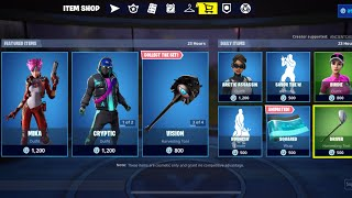 NEW FORTNITE SHOP FT MIKA LACE SKINS & VISION PICHAXE (#itemshop 07/25/19)