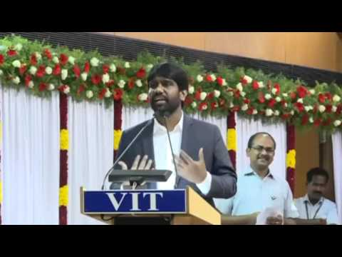 VIT Young Alumni Achiever Award Speech 2016
