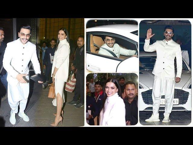Ranveer Singh & Girlfriend Deepika Padukone Leave For Their Royal WEDDING In Italy With Family
