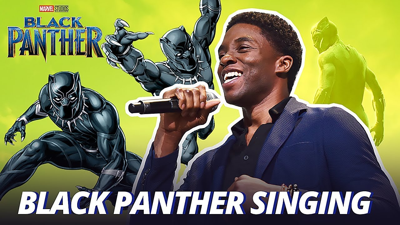 Chadwick Boseman Black Panther Singing
