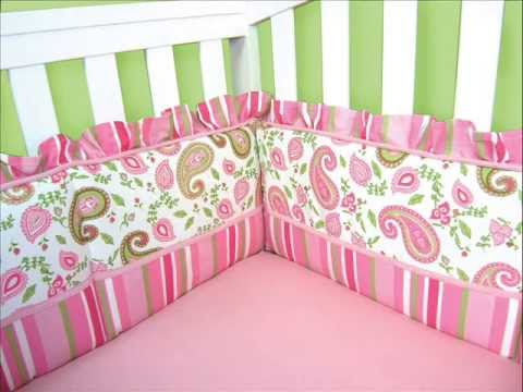 Pique 3 Piece Crib Bedding Set ; Mini Crib Bedding, Baby Crib Sets for Girls