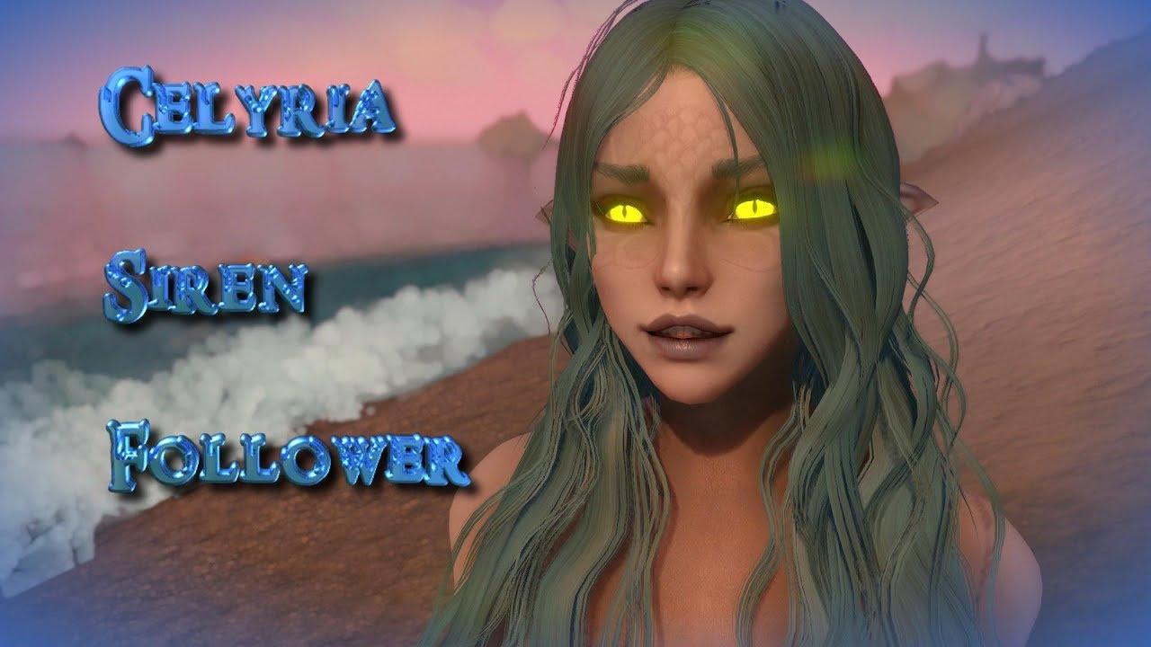 Celyria Siren Follower Skyrim Sms Youtube