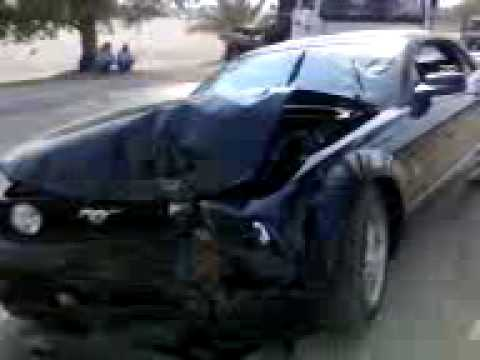 My Mustang Crash Accident Youtube