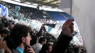 Derby roma-SS LAZIO 1900  1-2   04/03/2012 COREOGRAFIA CURVA NORD!