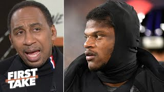 Stephen A. downplays Lamar Jackson's 5 TDs: 'He was aight,' but it was the Jets! | First Take Video