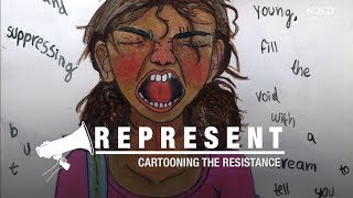 meet the oakland 14 year old cartooning the resistance   kqed arts