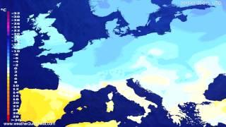 Temperature forecast Europe 2015-01-27