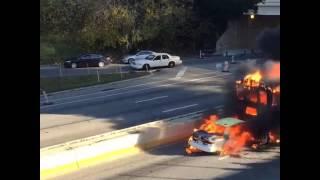 School bus fire in Philadelphia