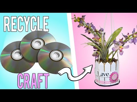 NEW DIY   AWESOME IDEA HOW TO REUSE CD  BEST RECYCLE CRAFT