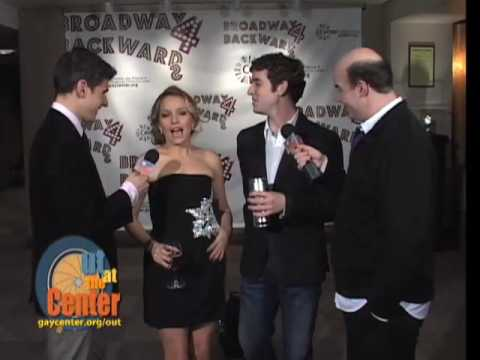 Michael Urie & Becki Newton at Broadway Backwards 4