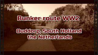 Bunker route WW2, Ouddorp, South Holland, the Netherlands
