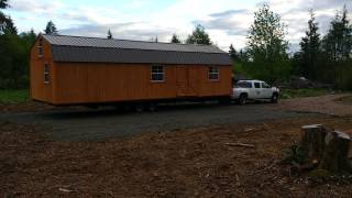 old hickory 14x40 foot shed delivery