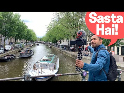 Amsterdam Rs. 1350 ₹ /Night! India to Amsterdam on a Budget, Traveling Desi's Amsterdam - Episode 1