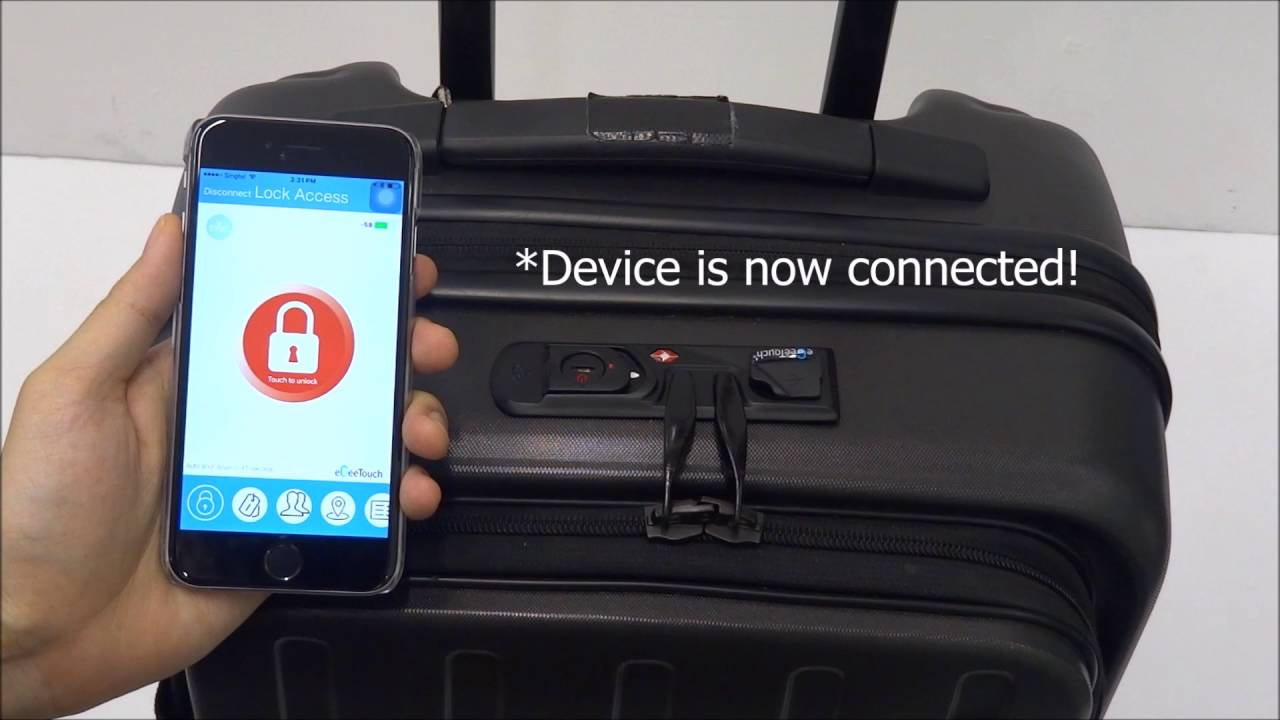 eGeeTouch - How to Unlock with Smartphone - - Smart Luggage Lock (Dual  Access) - YouTube