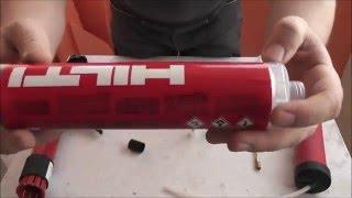 Химический анкер Hilti HFX. Небольшой обзор.