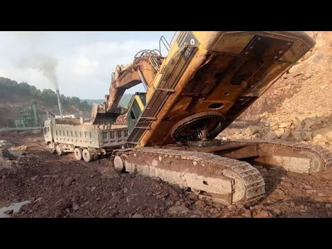WOW!!! TOP World's Excavator Fail Win Skills | PC8000 Heavy Equipment Excavator & Dump Truck