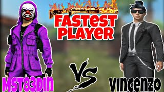 Mst83din Vs Vincenzo ||  Mobile Vs pc player || Which is Fastest player ? ||