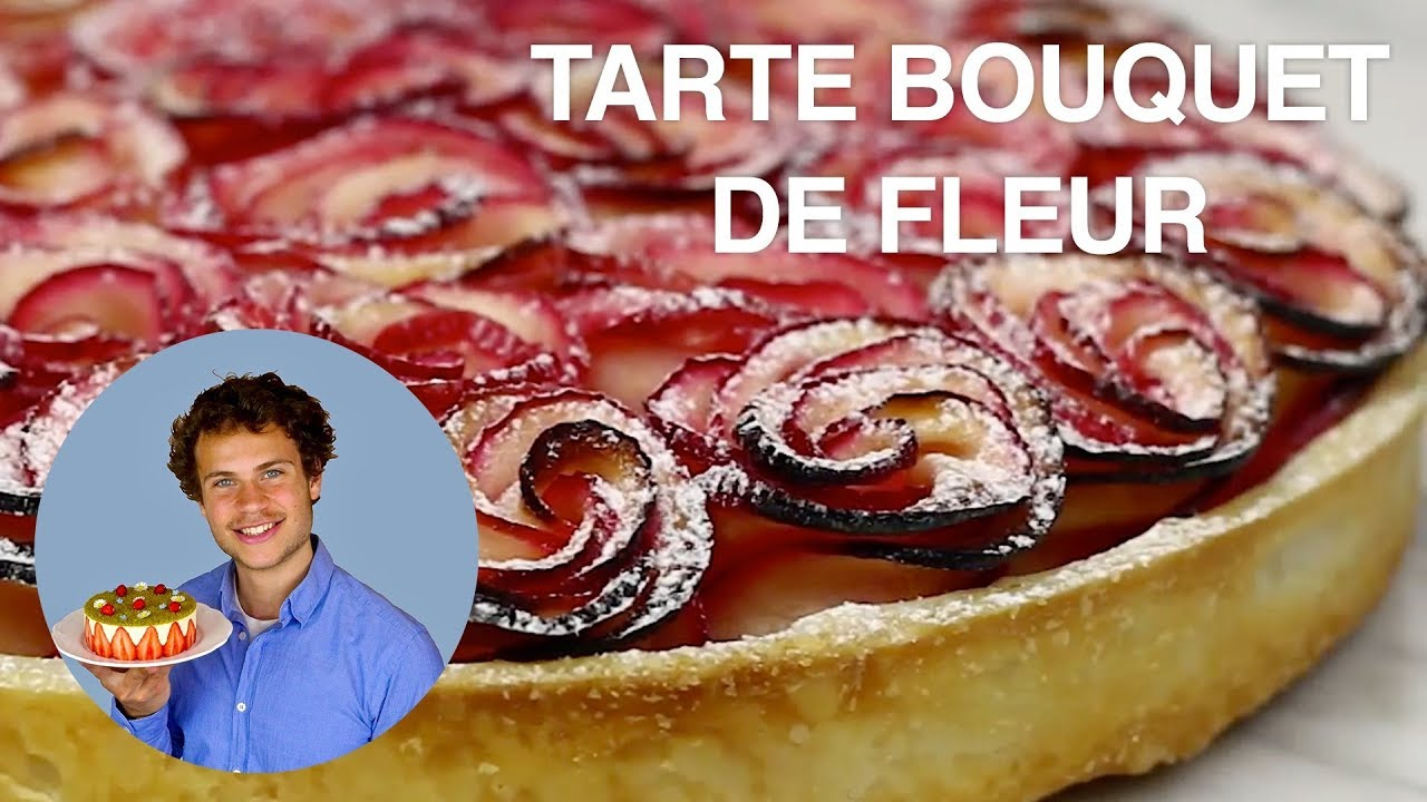 Recette de la tarte bouquet de rose youtube - Dessin tarte aux pommes ...