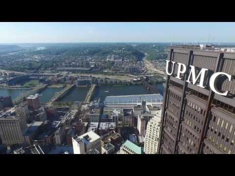 4K HD Drone footage Downtown Pittsburgh