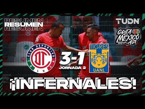 Toluca U.A.N.L. Tigres Goals And Highlights