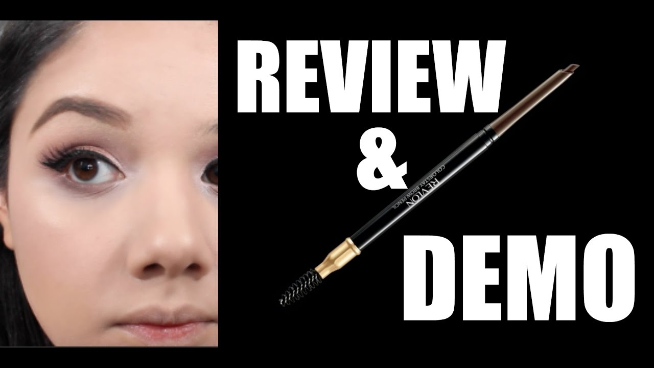 New Revlon Color Stay Brow Pencil Review And Demo Youtube