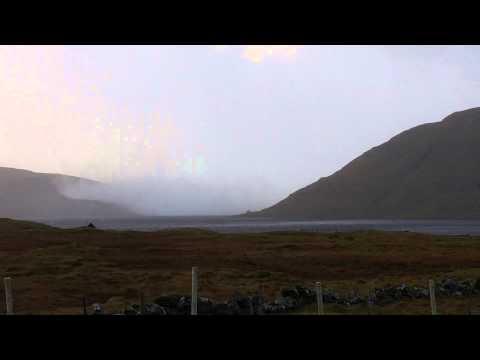 Very high waves - Leitisvatn - Faroe Islands