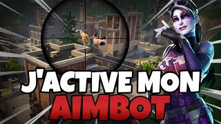 J'active mon aimbot sniper en plein live | FORTNITE