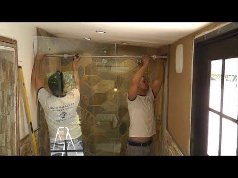 How to install a sliding glass shower doors tutorial