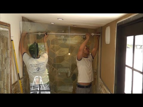 How to install a sliding glass shower doors tutorial youtube how to install a sliding glass shower doors tutorial planetlyrics Image collections