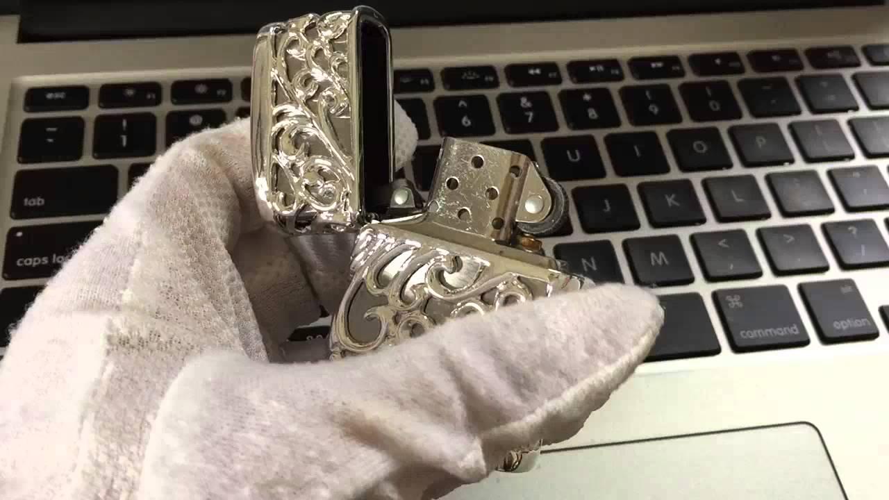 Zippo Lighter , Plated Silver , Devil Jacket