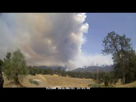 Cedar Fire time lapse